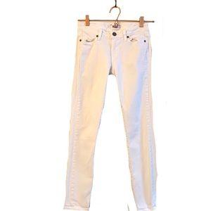 Paige Skyline Ankle Peg White Slim Fit Denim Jeans